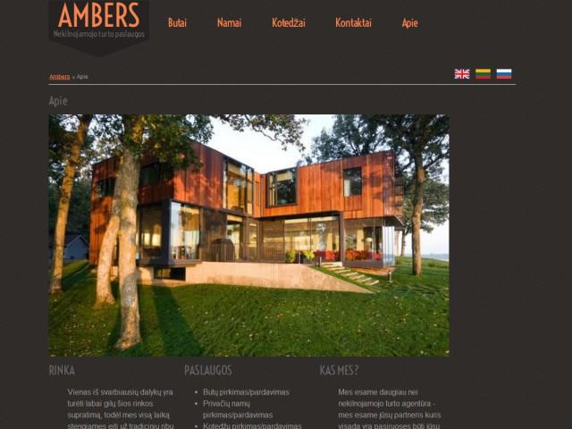 Sukurtas tinklapis nekilnojamo turto agentūrai