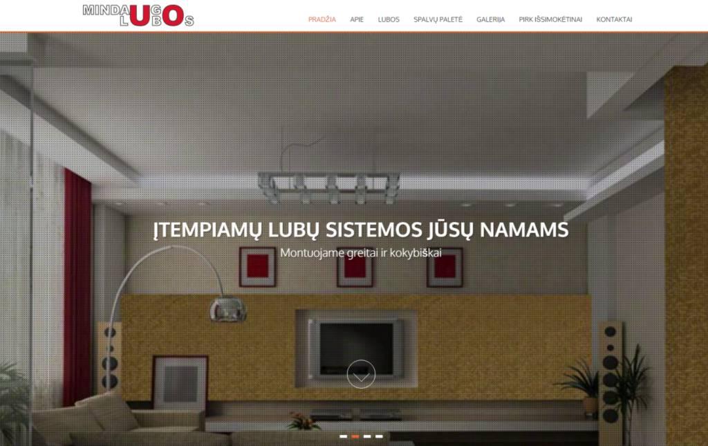 tinklapio atnaujinimas, vieno puslapio dizainas