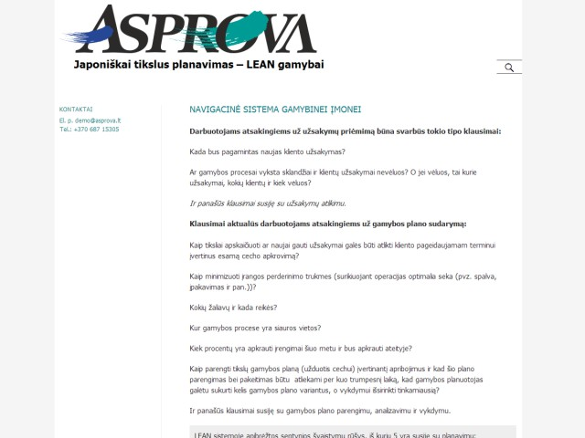 Sukurtas tinklapis Asprova.lt
