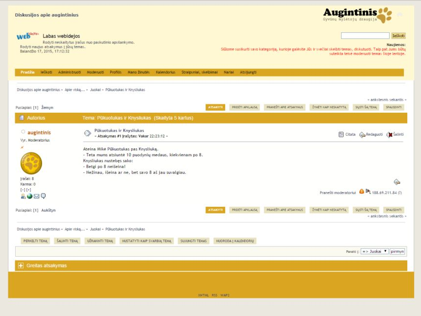 Forum for augintinis.eu
