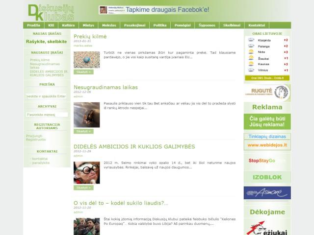 Internetinės svetainės diskusijuklubas.lt kūrimas