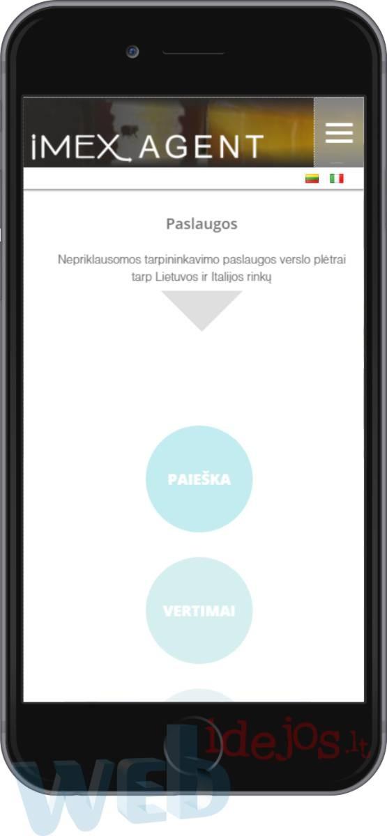 Internetinės svetainės kūrimas , tinkama mobiliems - imexagent