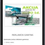 interneto svetainė reklamos studijai - versija mobiliems