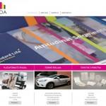 Miesto spauda tinklapio sukūrimas pagal kliento dizainą