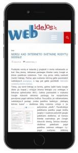 mobili svetainės versija - webidejos