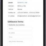 sukurtas tinklapis įmonei, versija mobiliems