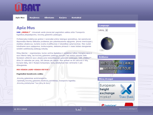Interneto svetainės, logotipo sukūrimas